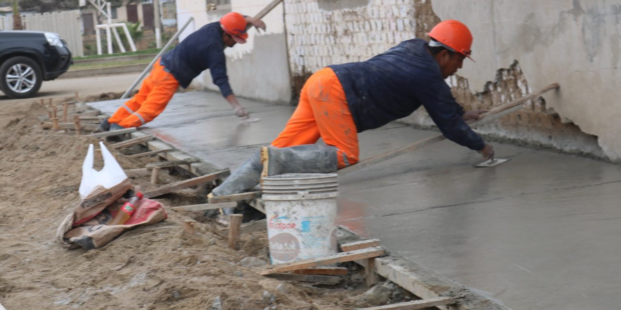 Un 53% de avance en obras de pistas y veredas en Buenos Aires Sur