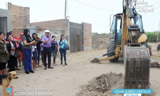 Vecinos de El Cortijo Bajo tendrán agua potable y alcantarillado